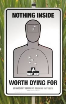 Front Sight Yard Sign